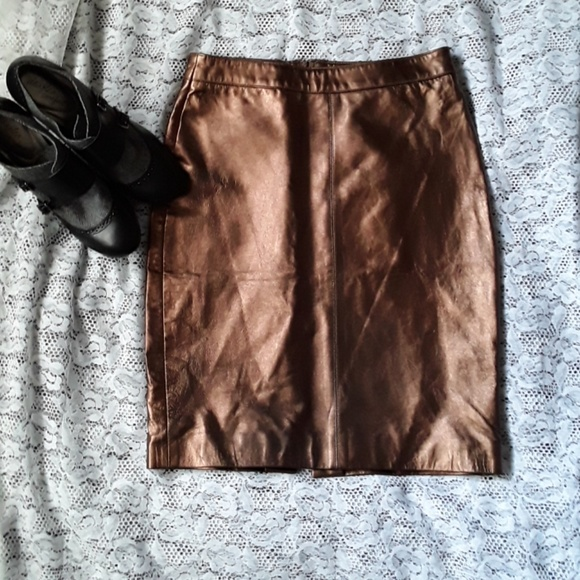 Hugo Buscati for Victoria's Secret Dresses & Skirts - New Hugo Buscati Genuine Leather Pencil Skirt 4